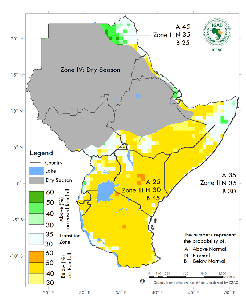 Dry and warm season expected across Eastern Africa (October - December 2020)
